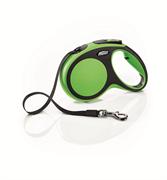 Flexi - Рулетка-ремень для собак, размер M - 5 м до 25 кг (зеленая) New Comfort Tape green