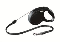 Flexi - Рулетка-трос для собак, размер S - 5 м до 12 кг (черная) New Classic cord black