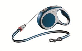Flexi - Рулетка-трос для собак, размер M - 5 м до 20 кг (голубая) Vario cord blue