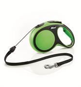 Flexi - Рулетка-трос для собак, размер M - 8 м до 20 кг (зеленая) New Comfort Cord green