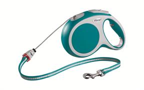 Flexi - Рулетка-трос для собак, размер M - 8 м до 20 кг (бирюзовая) Vario cord turquoise
