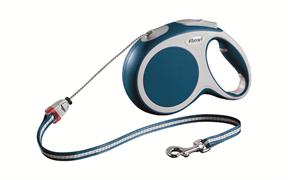 Flexi - Рулетка-трос для собак, размер M - 8 м до 20 кг (голубая) Vario cord blue