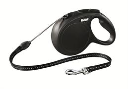 Flexi - Рулетка-трос для собак, размер M - 8 м до 20 кг (черная) New Classic cord black