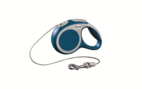 Flexi - Рулетка-трос для собак, размер XS - 3 м до 8 кг (голубая) Vario cord blue