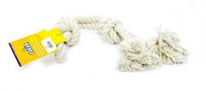 "Benelux - Игрушка для собак ""Белый канат"" 65 см Coton dog toy white 600 gr"