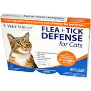 Vetri-Science защита от блох и клещей для кошек от 8 недель и старше, 1 аппликатор на 0,5 мл