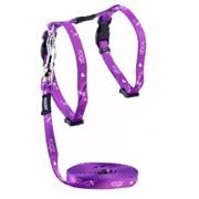 "Rogz - Набор для кошек ""Пурпурная стрекоза"" (шлейка (24-40 см) + поводок (длина 1,8 м)) KIDDYCAT HARNESS AND LEAD SET"