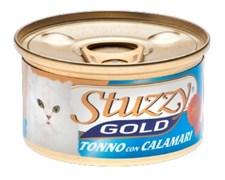 Stuzzy - Консервы для кошек (тунец с кальмарами в собственном соку) GOLD
