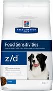 Hill's (вет. диета) - Сухой корм для собак лечение острых пищевых аллергий Z/D