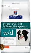 Hill's (вет. диета) - Сухой корм для собак лечение сахарного диабета, запоров, колитов W/D