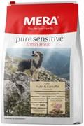 Mera - Сухой беззерновой корм для собак всех пород с чувствительным пищеварением (со свежим мясом курицы) Pure Sensitive fresh meat Adult Huhn&Kartoffel