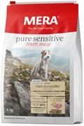"""Mera - Сухой беззерновой корм для взрослых собак малых пород с чувствительным пищеварением (со свежим мясом курицы) Pure Sensitive Mini Fresh Meat """"Adult Huhn&Kartoffel"""""""