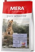 Mera - Сухой полнорационный корм для взрослых собак малых пород с чувствительным пищеварением (с ягненком и рисом) Pure Sensitive MINI Adult Lamm&Reis