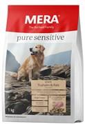 """Mera - Сухой полнорационный корм для пожилых собак с чувствительным пищеварением (с индейкой) Pure Sensitive """"Senior Truthahn&Reis"""""""