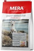 """Mera - Сухой беззерновой корм для взрослых собак малых пород с чувствительным пищеварением (с индейкой и картофелем) Pure Sensitive Mini Fresh Meat """"Adult Truthahn&Kartoffel """""""