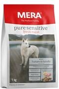 """Mera - Сухой беззерновой корм для взрослых собак с чувствительным пищеварением (с индейкой и картофелем) """"Adult Truthahn&Kartoffel """""""