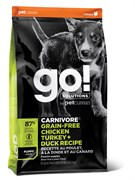 GO! Natural Holistic - Беззерновой для щенков всех пород (4 вида мяса: индейка, курица, лосось, утка) CARNIVORE GF Chicken,Turkey + Duck Puppy Recipe DF