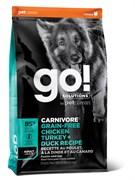GO! Natural Holistic - Беззерновой для взрослых собак всех пород (4 вида мяса: индейка, курица, лосось, утка) CARNIVORE GF Chicken,Turkey + Duck Adult Recipe DF