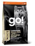 GO! Natural Holistic - Беззерновой для собак всех возрастов (c ягненком и мясом дикого кабана) CARNIVORE GF Lamb + Wild Boar Recipe DF