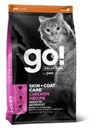 GO! Natural Holistic - для котят и кошек (с цельной курицей, фруктами и овощами) SKIN + COAT Chicken Recipe for Cats