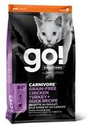 GO! Natural Holistic - Беззерновой для котят и кошек (4 вида мяса: курица, индейка, утка и лосось) CARNIVORE GF Chicken, Turkey + Duck Recipe CF