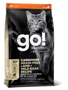 GO! Natural Holistic - Беззерновой для котят и кошек (с ягненком и мясом дикого кабана) CARNIVORE GF Lamb + Wild Boar Recipe CF