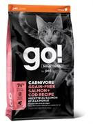 GO! Natural Holistic - Беззерновой для котят и кошек (с лососем и треской) CARNIVORE GF Salmon + Cod Recipe for Cats