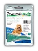 Frontline (Merial) -  Комбо для собак 10-20 кг от блох, клещей и яиц, 1 пипетка, Combo M