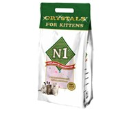 N1 -  Силикагелевый наполнитель для котят, 5л, Crystals for Kittens