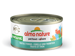 Almo Nature - Консервы для кошек, 75% мяса (с Форелью и Тунцом) Legend Adult Cat Trout and Tuna