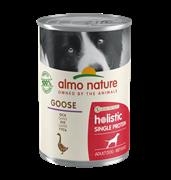 Almo Nature - Консервы для собак с чувствительным пищеварением (гусь) Holistic Single Protein
