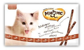 Мнямс - Лакомство для кошек (палочки с говядиной и печенью) 10шт х 5 г
