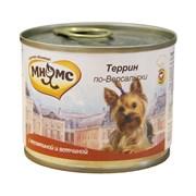 """Мнямс - Консервы для собак """"Террин по-версальски"""" (телятина с ветчиной)"""