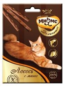 Мнямс - Лакомство для кошек (палочки с лососем и манго) Деликатес