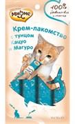 Мнямс Крем-лакомство для кошек (тунец Кацуо и Магуро) 4шт х 15г