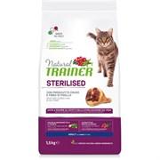 Trainer - Сухой корм для взрослых кастрированных котов и стерилизованных кошек (с сыровяленой ветчиной) Natural Adult Sterilised Dry-Cured Ham
