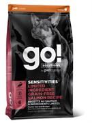 GO! Natural Holistic - Сухой корм беззерновой для щенков и собак для чувствительного пищеварения (с лососем) Sensitivity + Shine Salmon Dog Recipe, Grain Free, Potato Free
