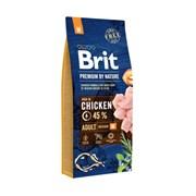 Brit - Сухой корм для взрослых собак средних пород Premium Adult M