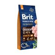 Brit - Сухой корм для пожилых собак мелких и средних пород Premium Senior S+M