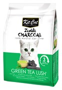 Kit Cat - Наполнитель комкующийся цеолитовый для кошек (с ароматом зеленого чая) Zeolite Charcoal Green Tea Lush