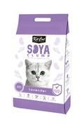 Kit Cat - Наполнитель комкующийся соевый биоразлагаемый (лаванда) SoyaClump Soybean Litter Lavender