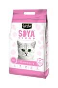Kit Cat - Наполнитель комкующийся соевый биоразлагаемый (клубника) SoyaClump Soybean Litter Strawberry