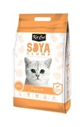Kit Cat - Наполнитель комкующийся соевый биоразлагаемый (персик) SoyaClump Soybean Litter Peach