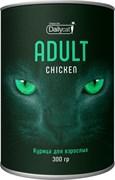 Dailycat - Сухой корм для взрослых кошек (с курицей) Unique line Adult