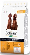 Schesir - Сухой корм для собак средних пород (курица)