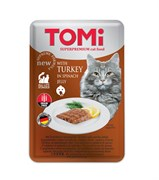 Tomi - Паучи для кошек (c индейкой в желе из шпината)