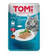 Tomi - Паучи для кошек (c лососем в яичном желе)