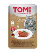 Tomi - Паучи для кошек (c птицей в томатном желе)