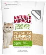 8in1 - Наполнитель комкующийся кукурузный для кошачьего туалета (натуральный свежий аромат) Nature's Miracle Odor Control Natural Care Cat Litter