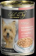 Edel Dog - Консервы для собак нежные кусочки в соусе (3 вида мяса)